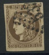 France (1870) N 47 (o) Signe - 1870 Bordeaux Printing