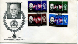 Swaziland Mi# 119-22 Used On FDC Letter - Death Of Winston Churchill - Swaziland (...-1967)