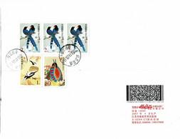 2003 - Lettre Pour La France - Série Oiseaux (Michel N° 3322 - 3323 - 3324) - Brieven En Documenten