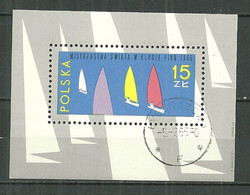 POLAND Oblitéré Bloc 43 Championnats Du Monde De Yachting Voile Voilier Bateau - Blocks & Sheetlets & Panes
