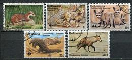Botswana Mi# 182-6 Gestempelt/used - Fauna WWF - Botswana (1966-...)