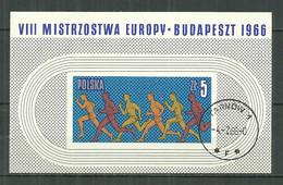 POLAND Oblitéré Bloc 45 Championnats D'Europe D'athlétisme à Budapest Sport Sportif - Used Stamps