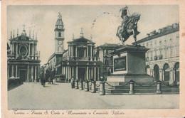 Torino - Piazza  San Carlo E Monumento A Filiberto - Animata - Bus - Places