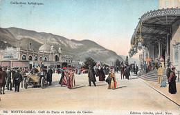 Monte-Carlo - Café De Paris Et Entrée Du Casino - Cafes & Restaurants