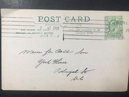 GB Edward VII Postcard 6 Bar London Postmark `Philip & Tacey Ltd` - 2 Scans - Cartas