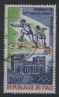 JO72/E154 - MALI PA 149 Obl. Jeux Olympiques Munich 1972 - Mali (1959-...)