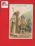 Paris Au Petit Saint Thomas Joli Chromo Sicard Sixte-Quint Enfant Pèlerin Cochon Noir - Altri