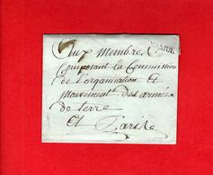 """GUERRES NAPOLEONIENNES BELGIQUE 1791 SANS TEXTE """"Namur""""  CACHET PREMIER BATAILLON DE LA SARTHE REPUBLIQUE FRANCAISE - Sammlungen"""