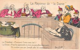 JUSTICE  Assises Avocat - LOT De 2 Cartes Illustrées Par LACOUX Et FERCHAM - Zonder Classificatie