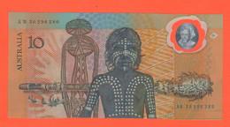 10 Dollari 1988 Australia Dollars Serie AB 30296280 Polimero Polymer - Emissioni Governative Decimali 1966-...