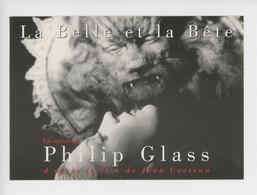 La Belle Et La Bête, Opéra De Philip Glass, Affiche Film De Jean Cocteau (cp Vierge) - Non Classificati