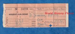 Ticket / Billet De Train ? - Gare De NOGENT Sur SEINE - Permission - SNCF - Militaire ? - Chemin De Fer - Unclassified