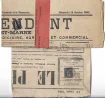 France N°83 Oblitération Typographique Des Journaux Sur Gd. Fragment Et Un Journal - 1876-1898 Sage (Tipo II)