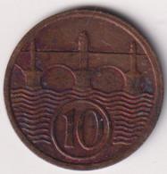 CZECHOSLOVAKIA 10 HALERU 1935 , KEY YEAR, HIGH GRADE - Czechoslovakia