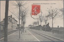 Sauveterre De Guyenne , Train En Gare , Animée - Sonstige Gemeinden