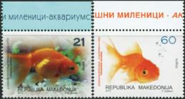 MACEDONIA 2014 Goldfish Gold Fish Fishes Carassius Auratus Domestic Animals Fauna MNH - Fische