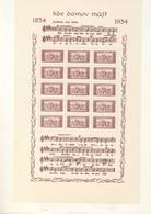 Blocs Feuillets  1 Et 2 De Tchécoslovaquie De 1934 émis Pour Le 100ème Anniversaire De L'hymne National. RRRRRRRRRRRRR - Blocks & Kleinbögen