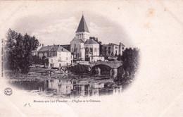 85 - Vendée - MAREUIL Sur LAY - L Eglise Et Le Chateau - Carte Precurseur - Mareuil Sur Lay Dissais