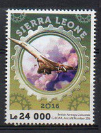 British Airways Concorde G-BOAA, Aircraft Number 206 - Public Transport Stamp - MNH (Sierra Leone 2016) (1W13105) - Unclassified