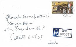 Malta 2000 Gzira Harbour Crane Registered Cover - Malta