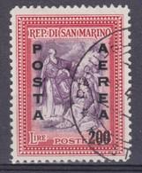 SAN MARINO 1948 - Posta Aerea £.200 Su £.25 Sass.  A76  Serie Cpl. 1v. Usato - Used Stamps