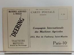 75 - COMPAGNIE DES MACHINES AGRICOLES 253 RUE DU FAUBOURG SAINT MARTIN PARIS 10e - DEERING - District 10