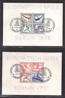 DR., Mi.-Nr. Block 5 + 6, XI. Olympische Spiele Berlin 1936, , Gestempelt - Unclassified