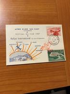 Cannes Festival Du Film 1947-  Rally Aérien - Journée De L'air  ( Voire Scan )  Port Offert - Marcofilia (sobres)