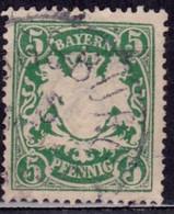 Germany - Bavaria 1888-1900, Coat Of Arms, 5pf , Sc#62, Used - Bayern