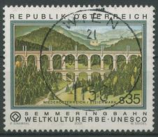 Österreich 2001 UNESCO Semmeringbahn Viadukt Kalte Rinne 2348 Gestempelt - 2001-10 Usati