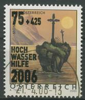 Österreich 2006 Hochwasserhilfe Kreuzstein Im Mondsee 2587 Gestempelt - 2001-10 Usati