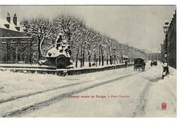 CPA - NANCY Sous La Neige - Place Carrière  - (Meurthe Et Moselle) - Nancy