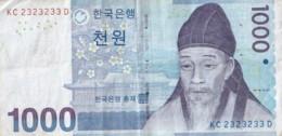 Billet De 1000 Won -Bank Of Korea - KC 2323233 D - Corea Del Sud