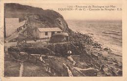 62 Environs De Boulogne Sur Mer Equihen Cascade De Ningles Cpa Cachet Daguin - Boulogne Sur Mer