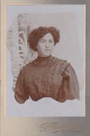 """Photo Foto - Formato """"Victoria-Margherita"""" - Donna In Abito Con Corti Volan - Years  '1890 - P. Zamperiolo, Spilimbergo - Antiche (ante 1900)"""