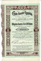 Titre Ancien - Crédit Foncier Egyptien - Egyptian Credit Foncier - Société Anonyme - Obligation De 1905 - - Bank & Insurance