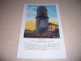 1920s REFUSE BURNER,GREAT SOUTHERN LUMBER CO., BOGALUSA LOUISIANA REPRO POSTCARD - Other