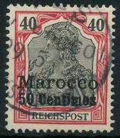 DEUTSCHE AUSLANDSPOSTÄMTER MAROKKO Nr 13 Gestempelt X0945DE - Deutsche Post In Marokko