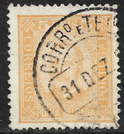 Ponta Delgada – 1892 King Carlos 5 Réis - Ponta Delgada