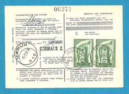 994 (Europa/cept) Op Kaart (type)965 Voor TAXE DE REEXPEDITION Van NAMUR, Met Stempel MONS - Covers & Documents