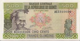 GUINEA=1985    500  FRANCS     P-31    UNC - Guinea