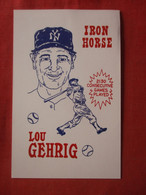 Iron Horse  Lou Gehrig  1989 First Day Of Issue         Ref 4412 - Baseball