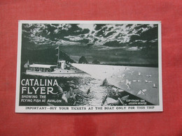 Catalina Flyer Showing Flying Fish At Avalon  California    Ref 4414 - Unclassified