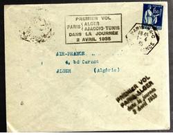 37807 - Vol Pour ALGER - First Flight Covers