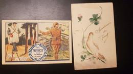 Cartes Fantaisies - Militaria - Lot De 2 Cartes à Découvrir - Ohne Zuordnung