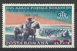 Romania 1993 Mi 4930 MNH ( ZE4 RMN4930 ) - Cavalli