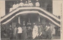DAHOMEY - PORTO NOVO - GROUPE DE CHEFS DE CANTON - Nombreuses Personnes Et Militaires - Dahomey