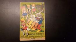 44 - Carte Postale à Système - Paris - Dans Le Tambour De Rataplan Vous Verrez 10 Vues - édition Gaby - Mehransichten, Panoramakarten
