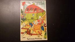 56 - Carte Postale à Système - Sarzeau-Penvins - Sous Le Capot Du Train Vous Verrez 10 Vues - édition Gaby - Sarzeau