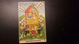 56 - Carte Postale à Système - Sarzeau-Penvins - En Entrant Dans Le Moulin Vous Verrez 10 Vues - édition Gaby - Sarzeau